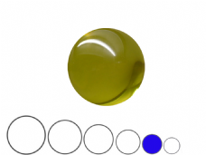 Jac Products Yellow Translucent 70mm Acrylic Contact Ball